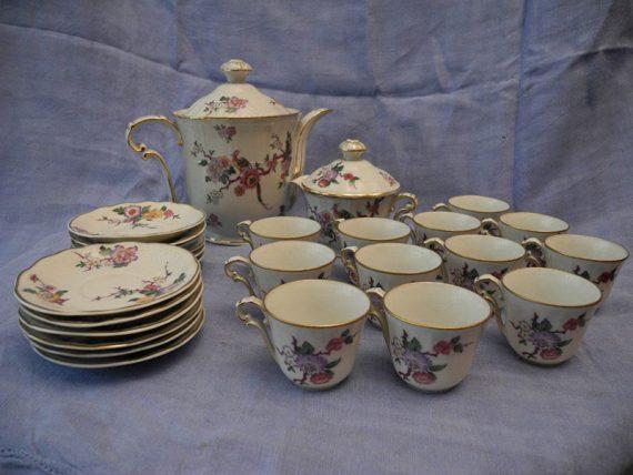 Juego de café 12 personas Porcelana Limoges