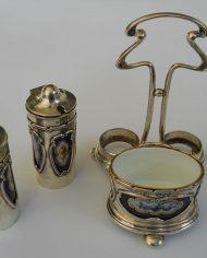 Alcuza Plata 925 y Porcelana Art Noueau 4