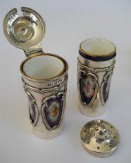 Alcuza Plata 925 y Porcelana Art Noueau 3