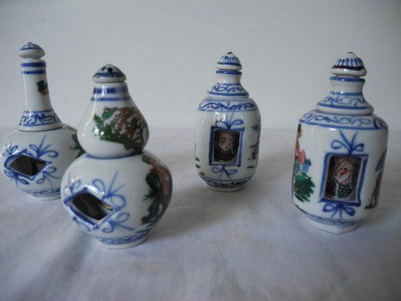 Botellas Chinas Porcelana Pintadas