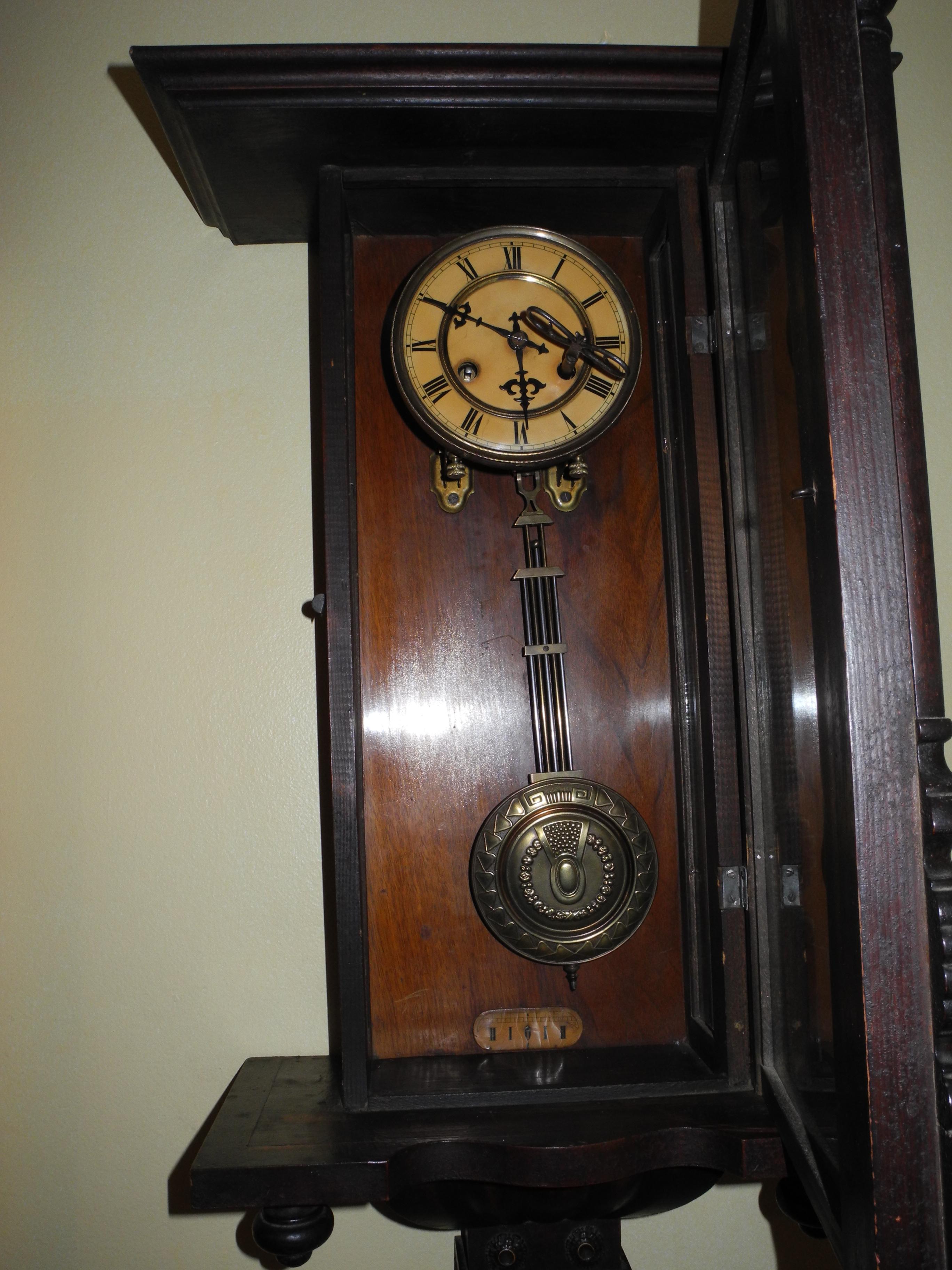 Reloj aleman de la famosa casa junghans antiguo venta online de antiguedades - Reloj de pared gigante ...