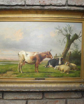 Eugen Joseph Verboeckhoven (1798-1881) Pintor Belga ,78x54cm