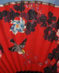 Abanico Vintage Bellos Colores Gran Tamaño 3