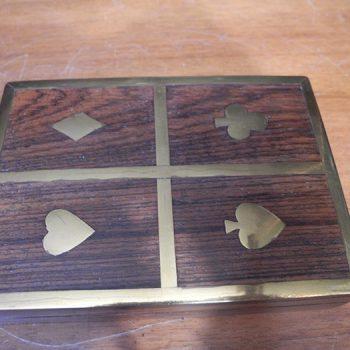 Caja para cartas en madera noble