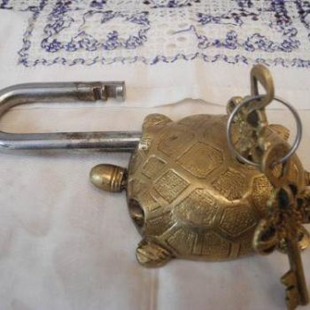 Candado Estilo Antiguo Como Decoracion Y Uso Practico