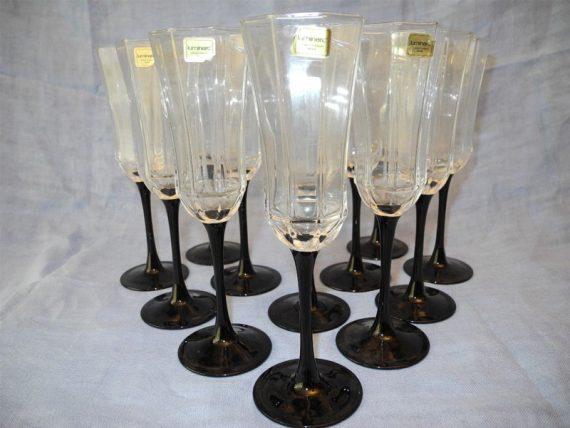 Doce copas de Cristal Francés