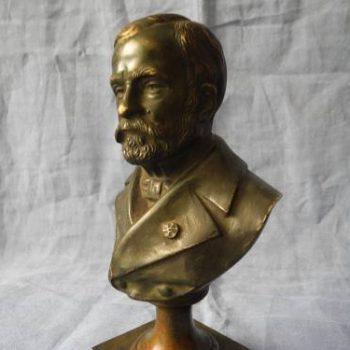 Estatua De Bronce Paris De Pasteur Siglo 19