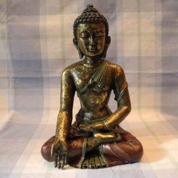 Estatua Tibetana De Buda Seat Sakyamuni 32 Cm De Alto