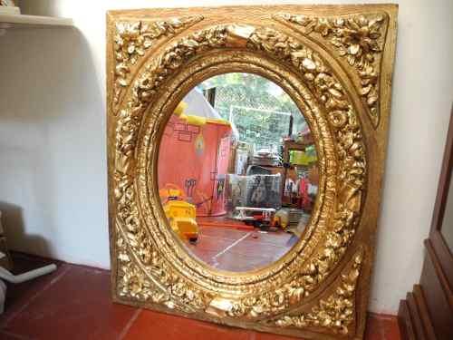 Espejo biselado con marco dorado venta online de for Espejo marco dorado