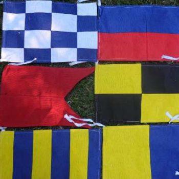 Juego de 26 Banderas de Señales Marinas