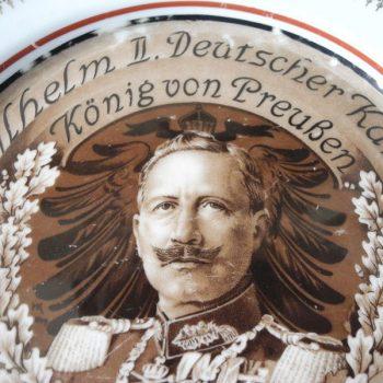Plato de Porcelana Aleman del Kaiser - 1914