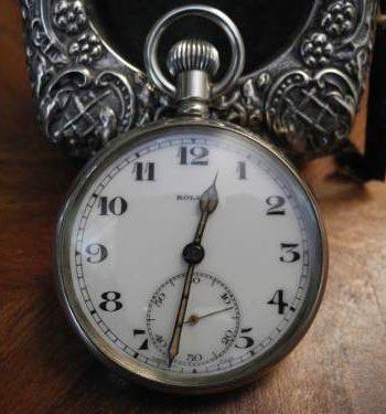 Reloj De Bolsillo Rolex Legitimo Plata