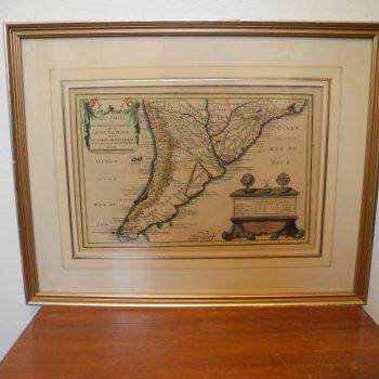 Mapa Antiguo Le Chili.et Les Provinces..nicolas De Fer 1705
