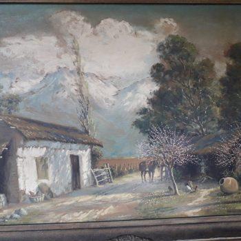 Pintura Alberto Lobos La Generacion del 13 y Neruda