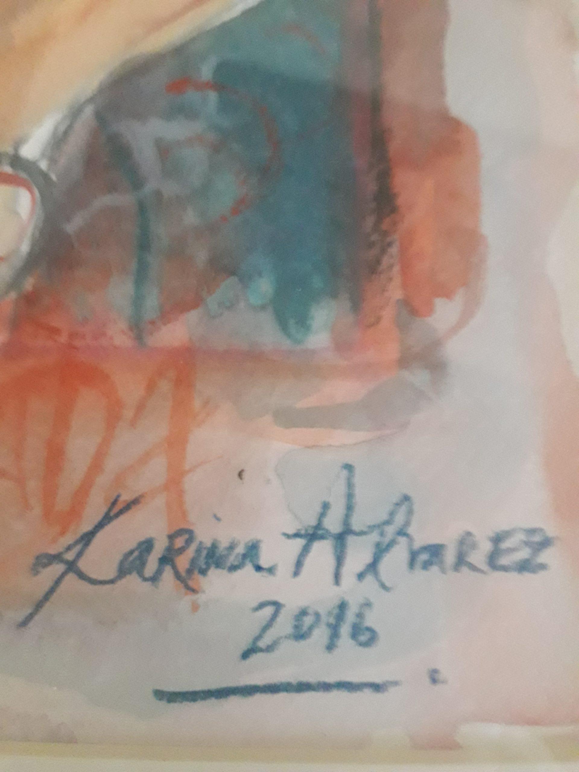 firma de pintora Karina Alvarez