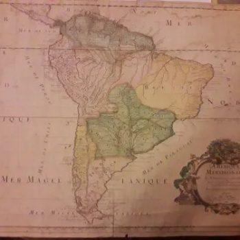 A Map Of Chili , Patagonia, La Plata, Brasil By H. Moll 1710