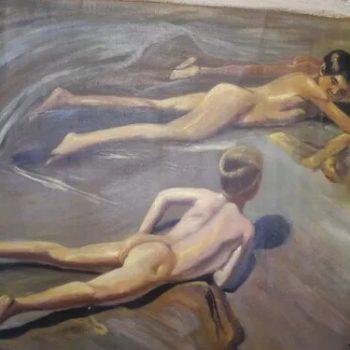 Pintura Moderna Al Estilo De Sorolla 92 Cm X 62 Cm