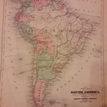 A Map Of Chili , Patagonia, La Plata, Brasil By H. Moll 1710