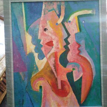 """Cuadro: de la serie """"El Grito"""" de Francisco Zazzo  1985-86 óleo sobre tela"""
